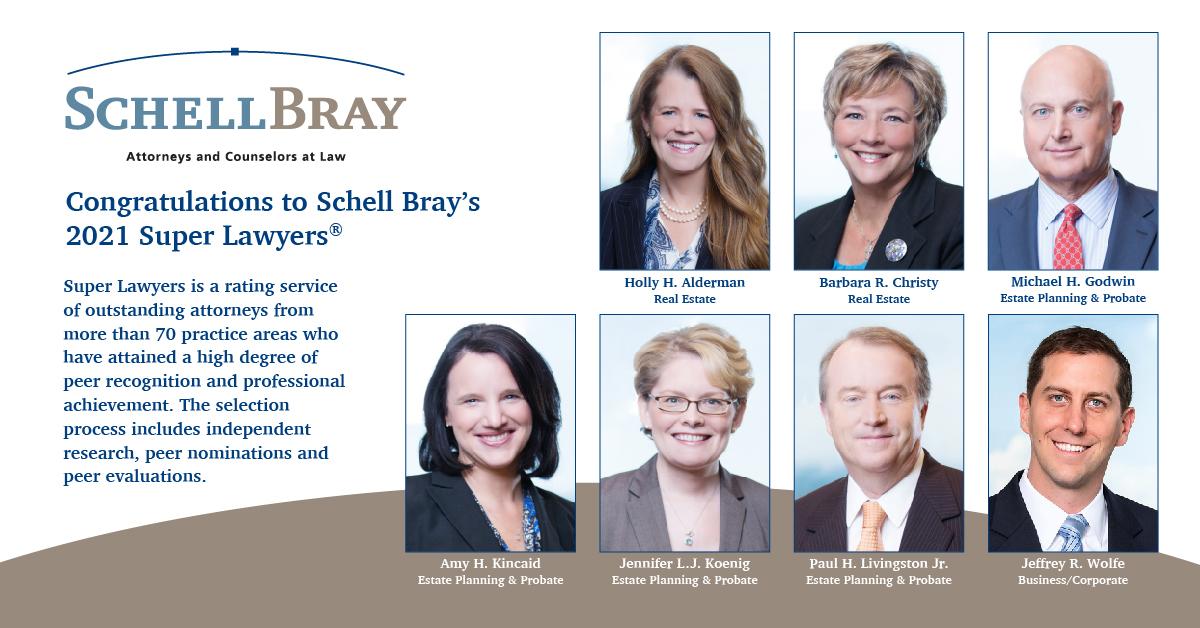 Schell Bray Super Lawyers 2021-01